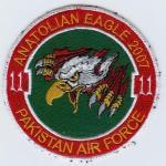 Pakistan Air Force 11 Squadron - Anatolian Eagle 2007 patch