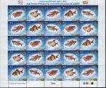 UPU Fishes Stamp Sheet 2004
