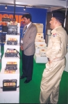 Another view of DGMP stall showing the Field Telephones.