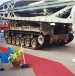 manufactured AVLB (Armoured Vehicle Launched Bridge) which allows rapid bridging operations across wet and dry gaps, minefields etc. The bridge can sustain all military vehicles up to 60-ton weight.